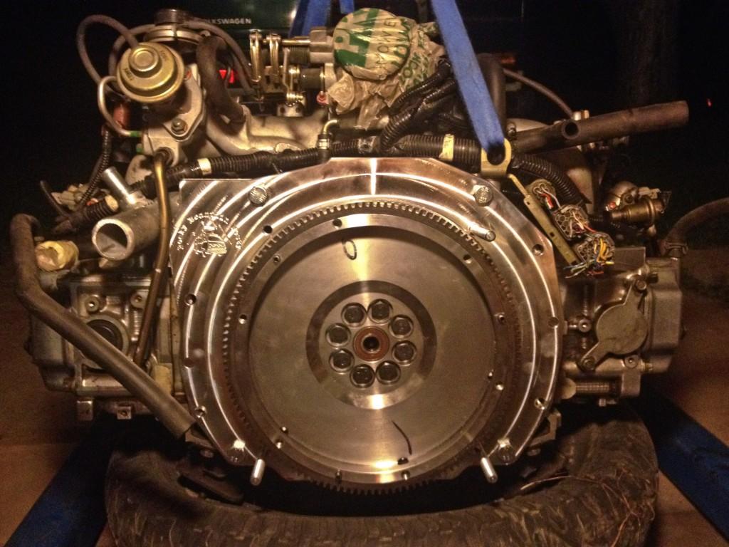 Flywheel installed