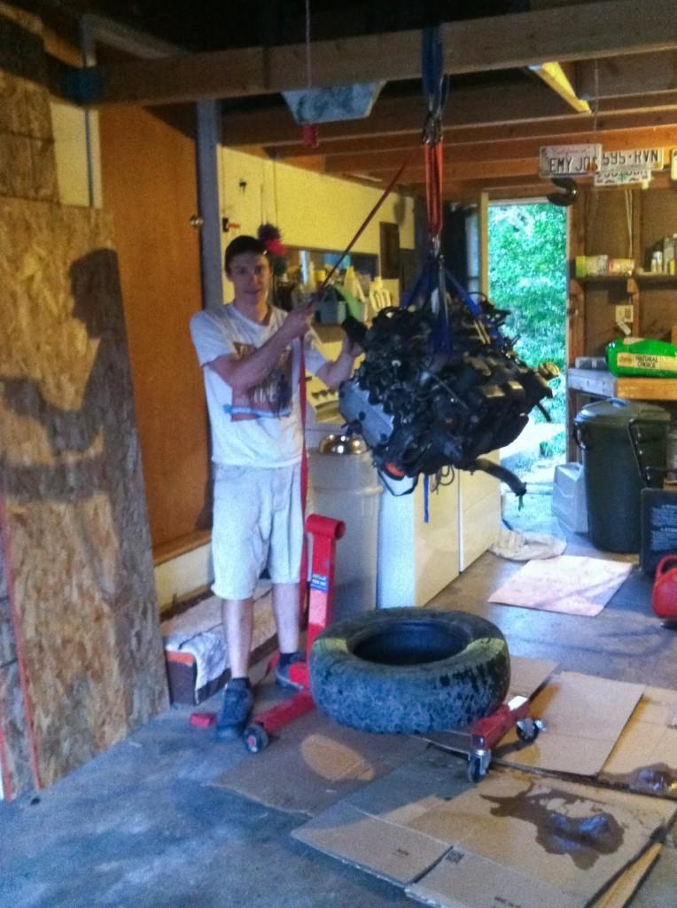 Home made engine hoist