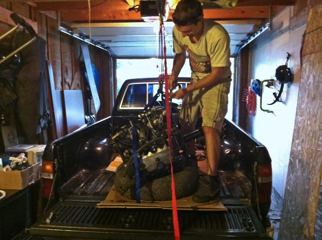 Unloading the Subaru engine