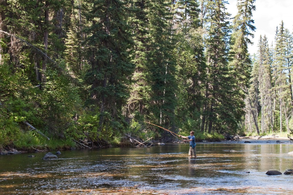 Tim fly fishing in Montana