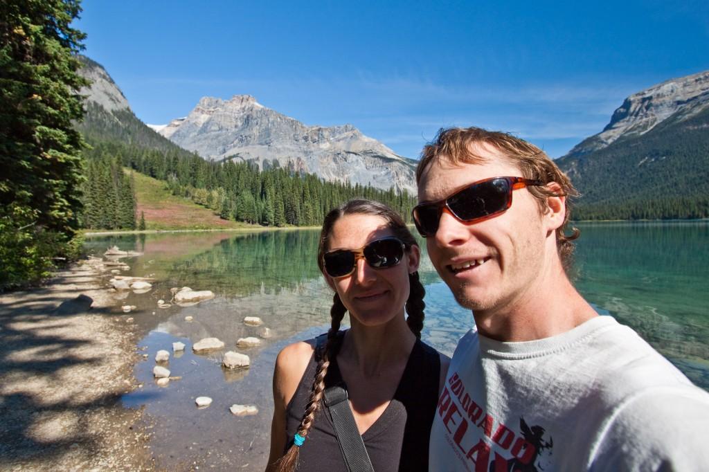 Us at Emerald Lake, Yoho National Park