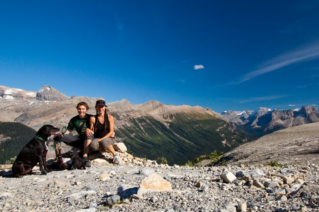 At the summit of the Ice Line Trail hike in Yoho National Park