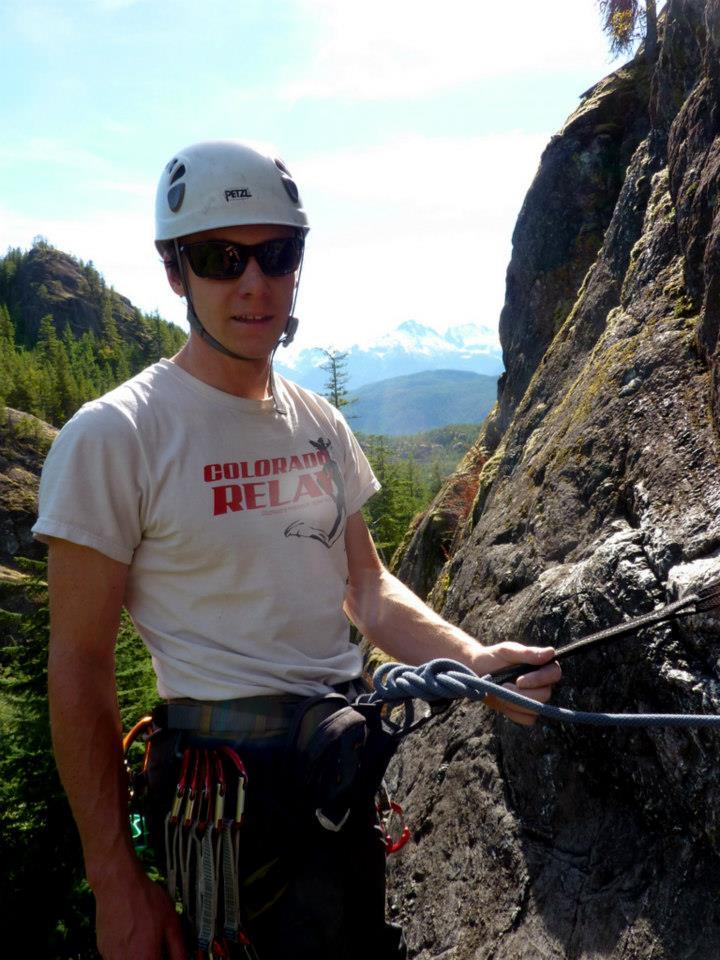 Tim roped up at Cheakamus Canyon