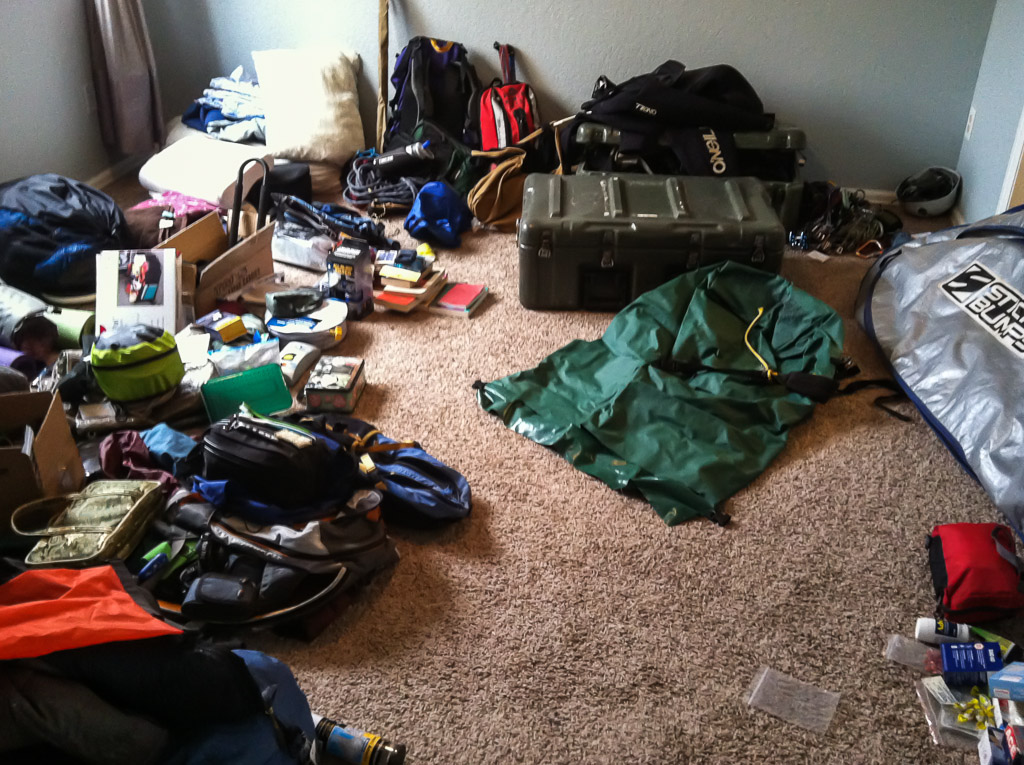Packing for a year on the road.