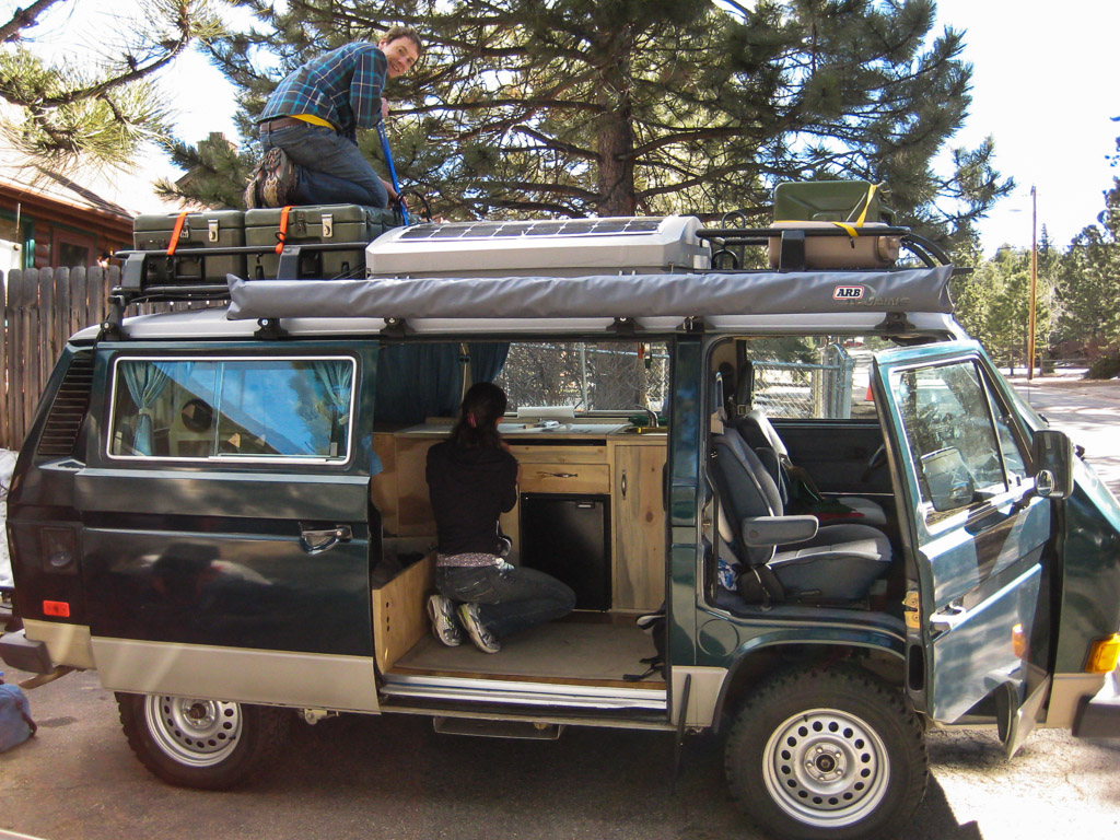 Packing up the van in Estes Park.