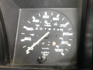 Odometer when we left Boulder.
