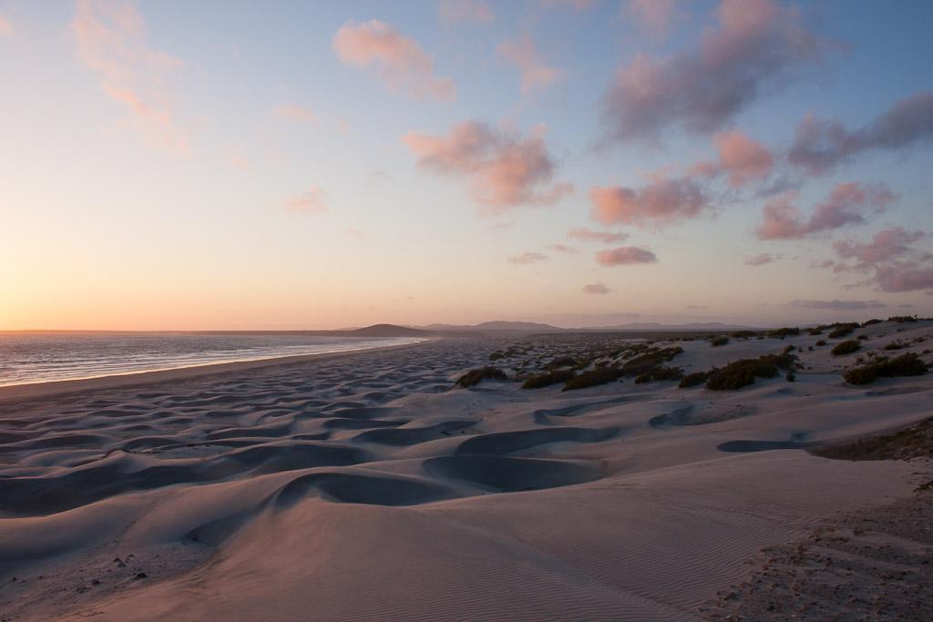 Sunset on the dunes.