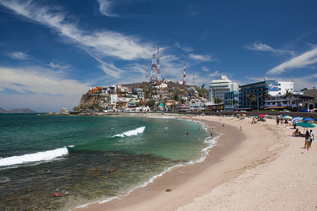 A view of Mazatlan in the morning, before the beach madness begins.
