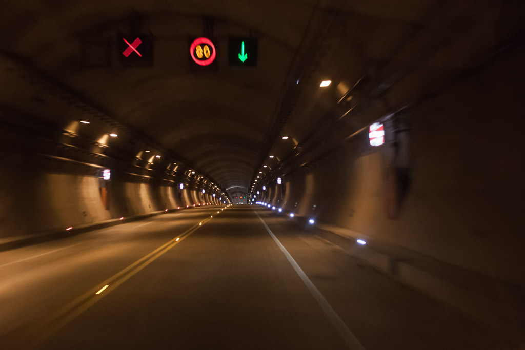 One of the long tunnels on the Mex 40D.