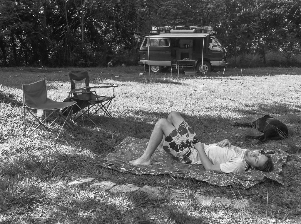 Tim and Hobie taking a siesta.