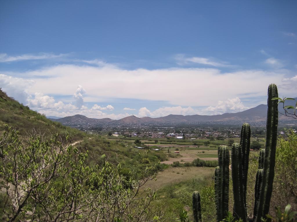 View of Oaxaca from San Sebastián Tutla climbing area.