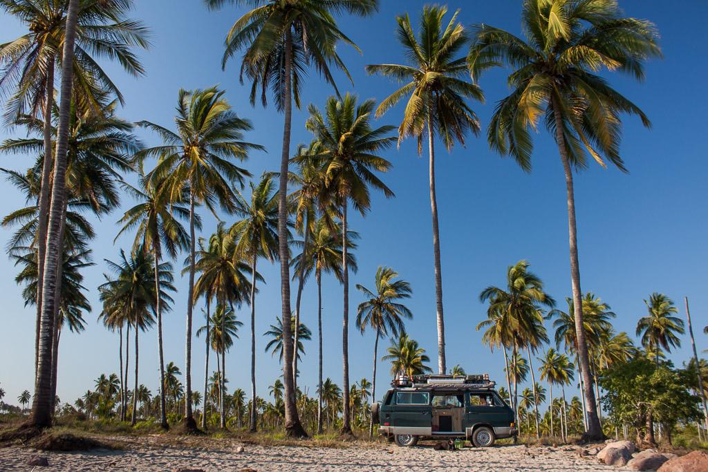 Camping on the beach near Teacapán.
