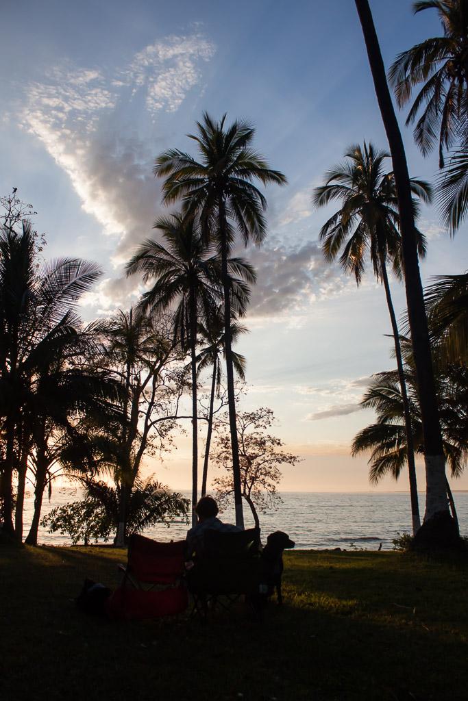 Beautiful sunset at an RV park near San Blas.