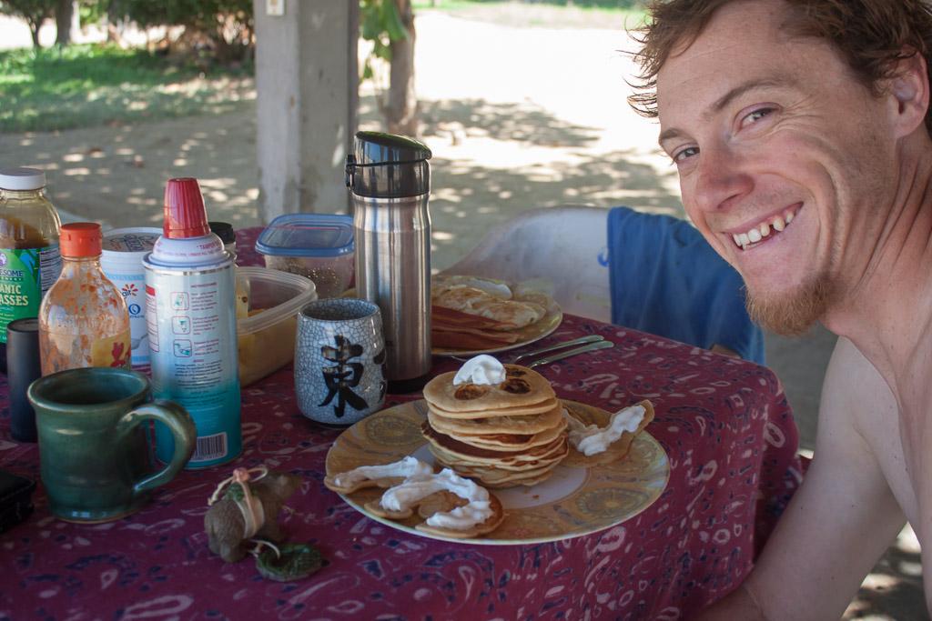 Tim's birthday pancake cake.