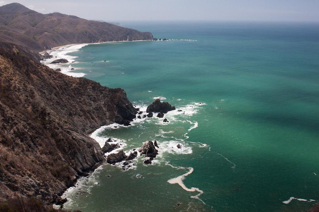 Michoacán coastline.