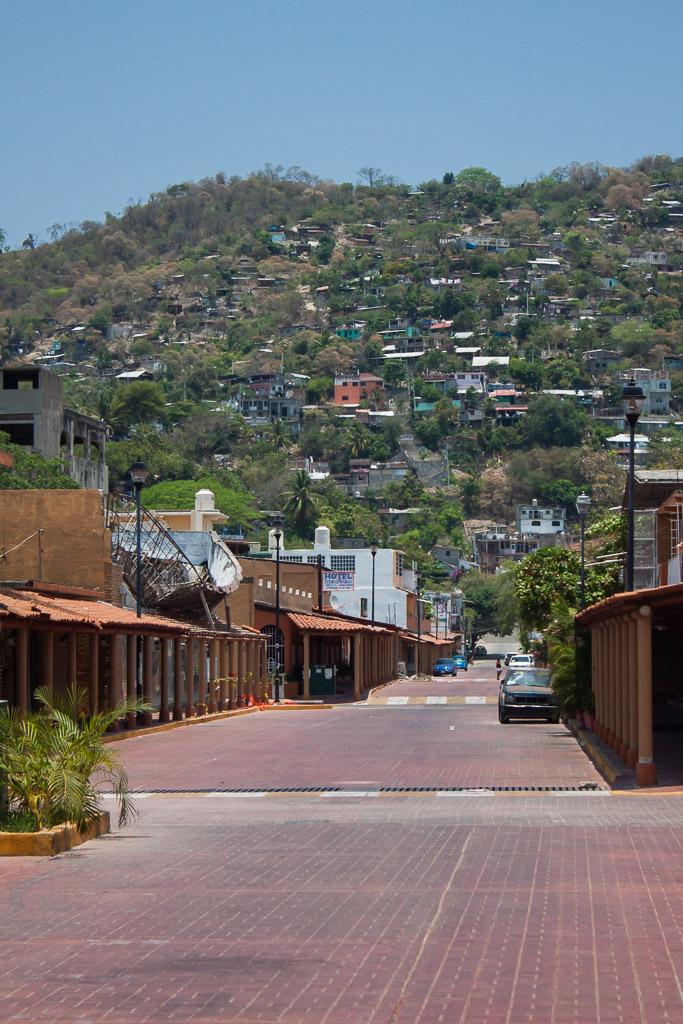Street view in Zihuatanejo.