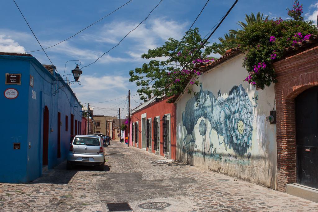 Street view in Oaxaca.