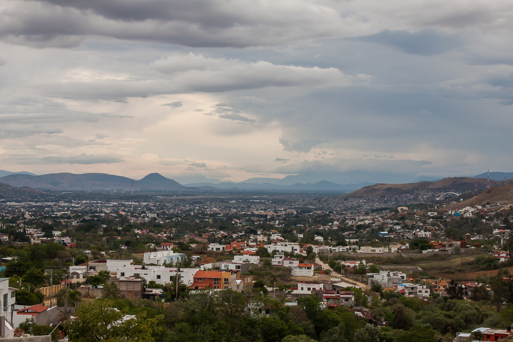 View of Oaxaca from hill above the city.