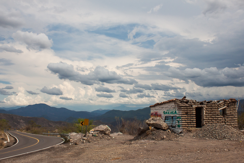 View on the highway heading out of Oaxaca.