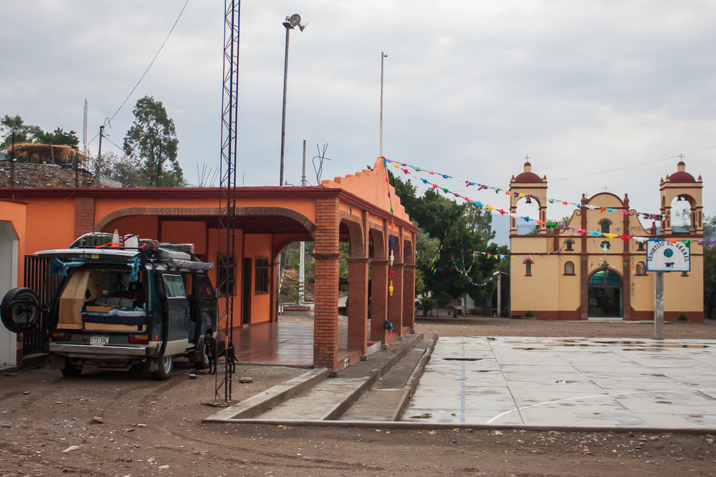 Our camp spot in the square in El Gramal.
