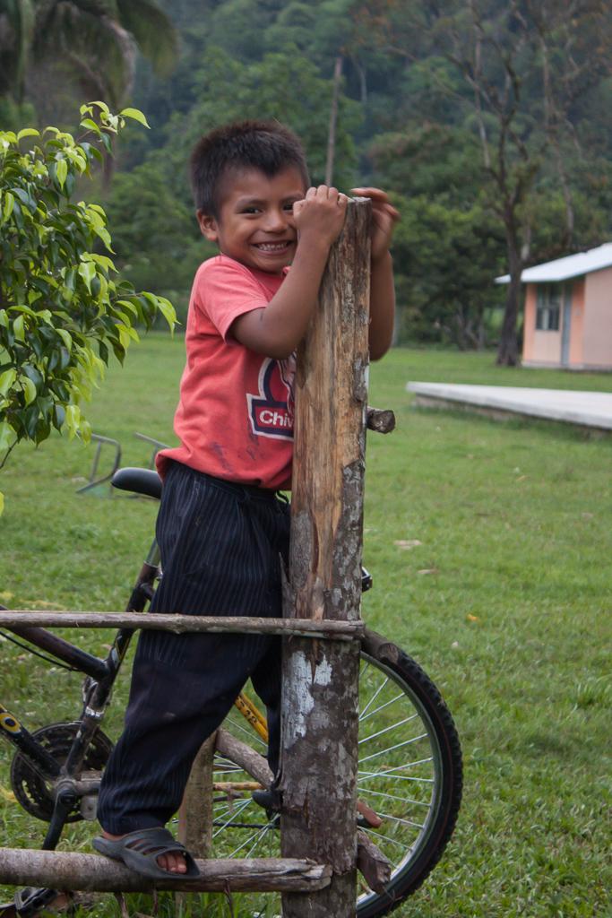 Boy posing for the camera in Ejido Peña Blanca.