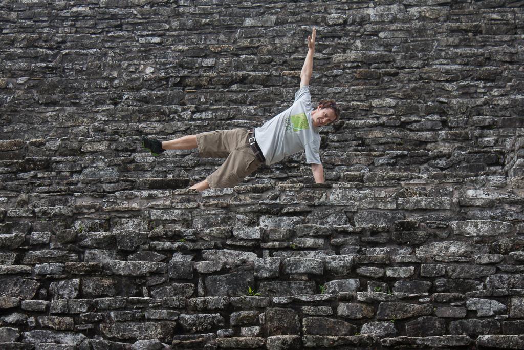 Tim planking Palenque.