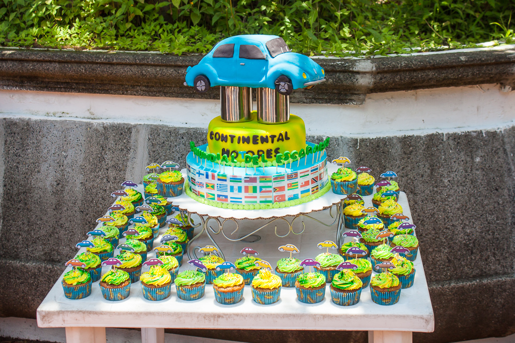 To top it off there was a VW Bug cake and cupcakes.