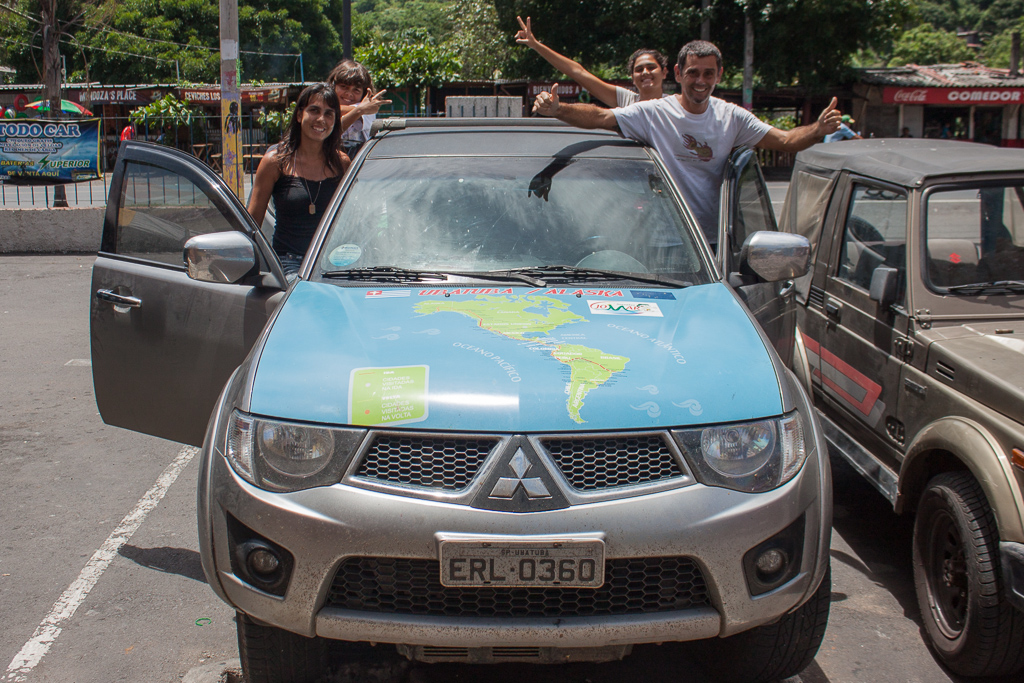The awesome Brazilian overlanding family we crossed paths with in La Libertad. They're heading north to Alaska.