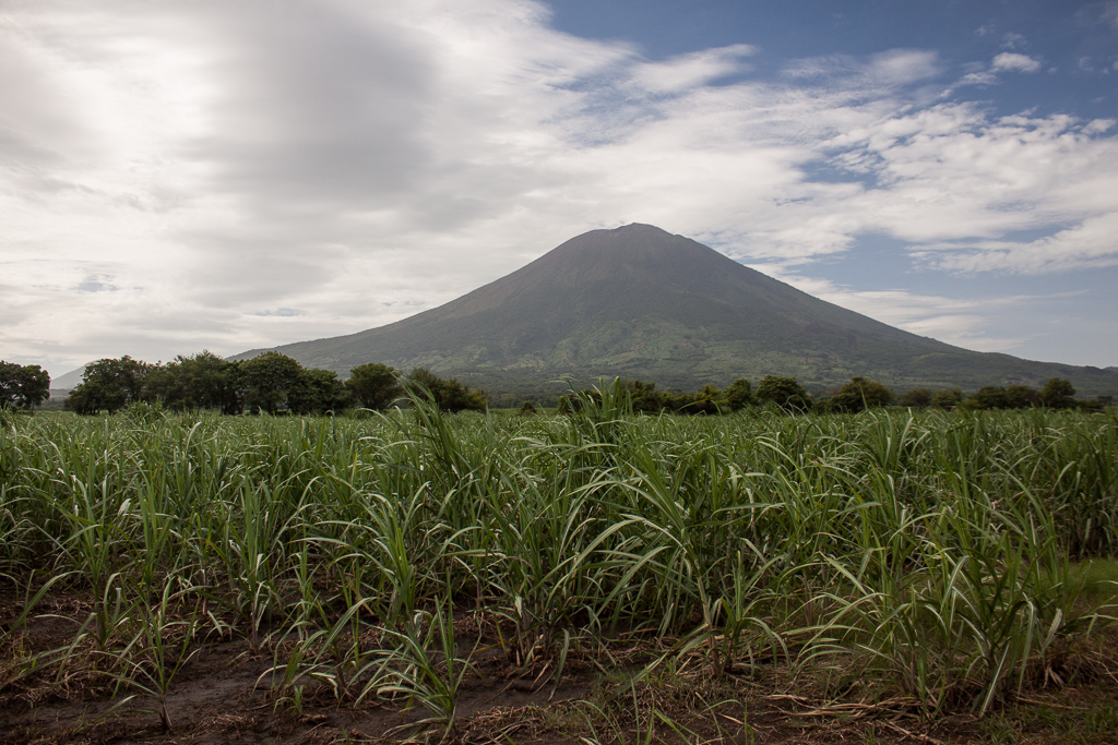 One of the many picturesque volcanoes in El Salvador.