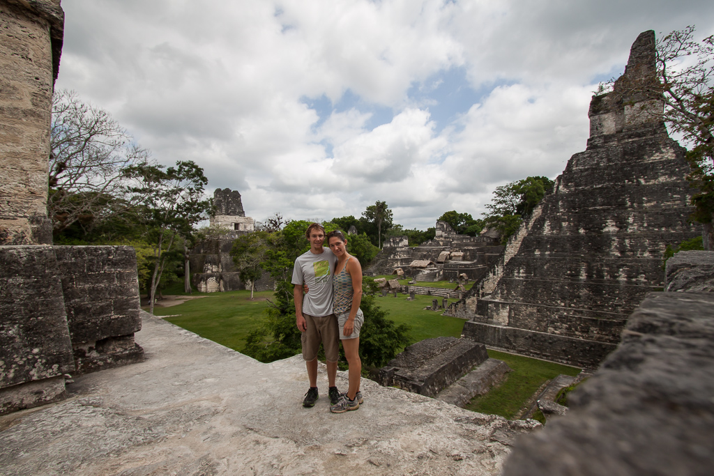 Selfie in the Grand Plaza at Tikal.