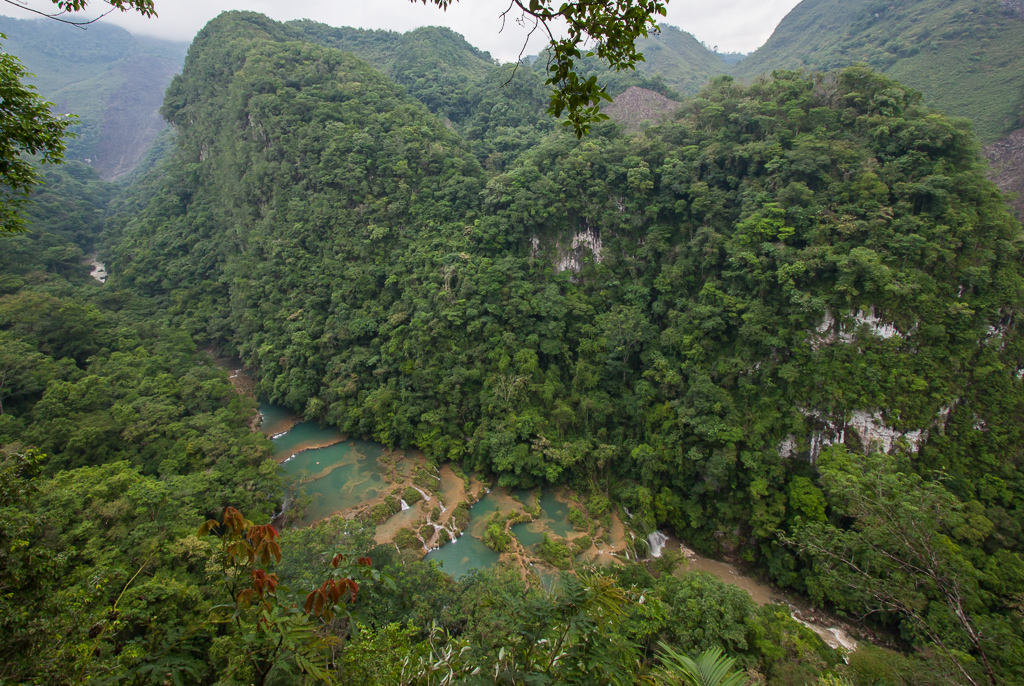 Semuc Champey from the viewpoint.
