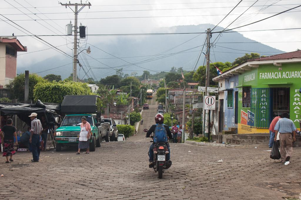 Following Ernesto through Juayua.