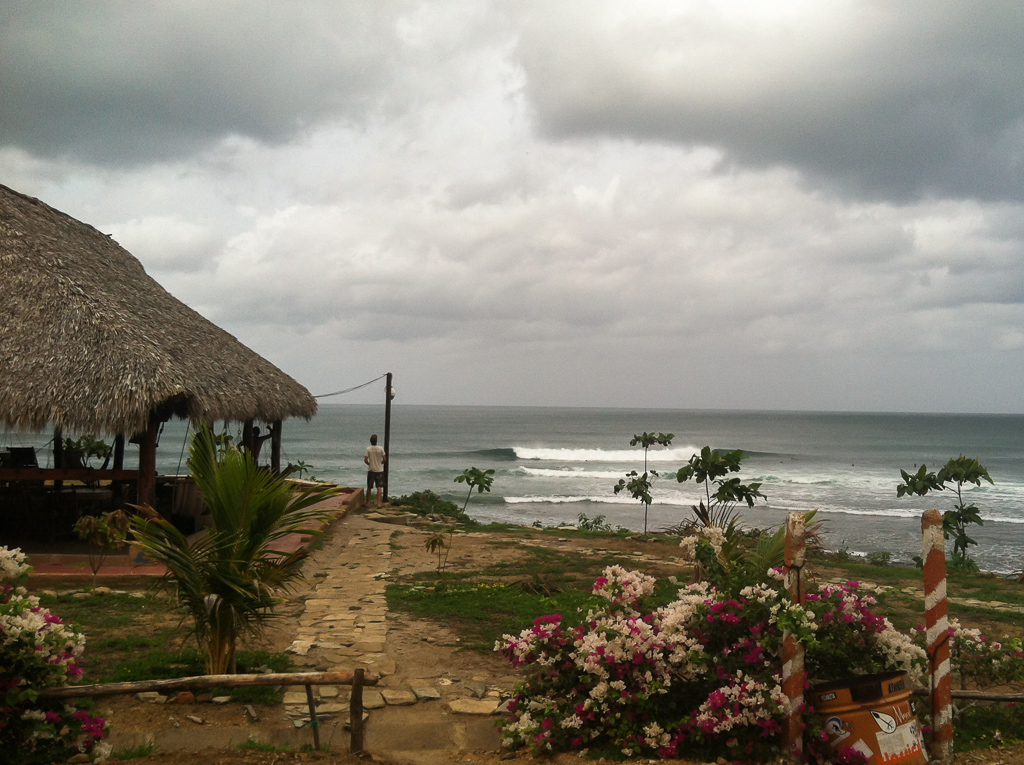 The view from our camp spot at Popoyo.