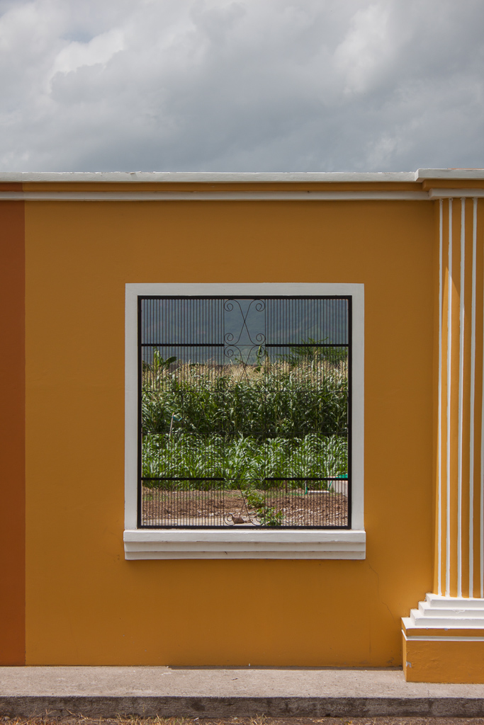 Corn fields through a window. This is one of the few photos we took in Honduras.