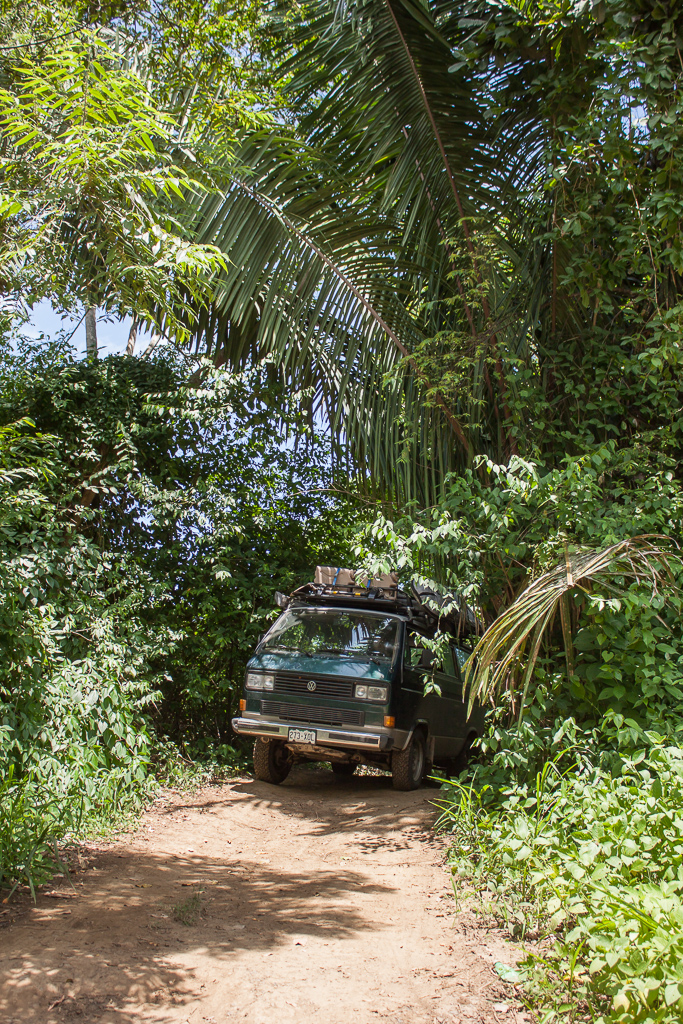 Our second river crossing was followed by a narrow, rough, jungle road. Just what Chimera likes!
