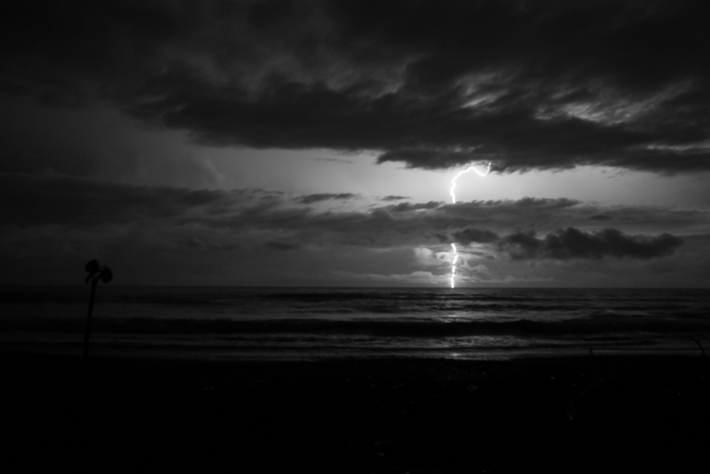 Lightning storm from the beach.