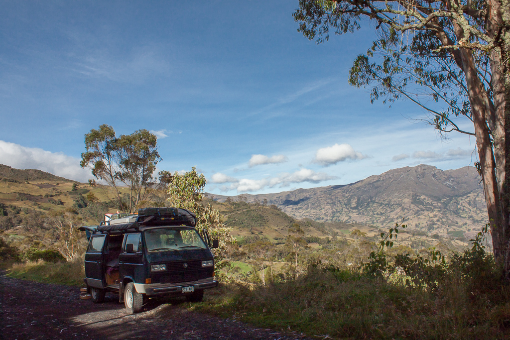 Our breakdown location, El Cocuy.