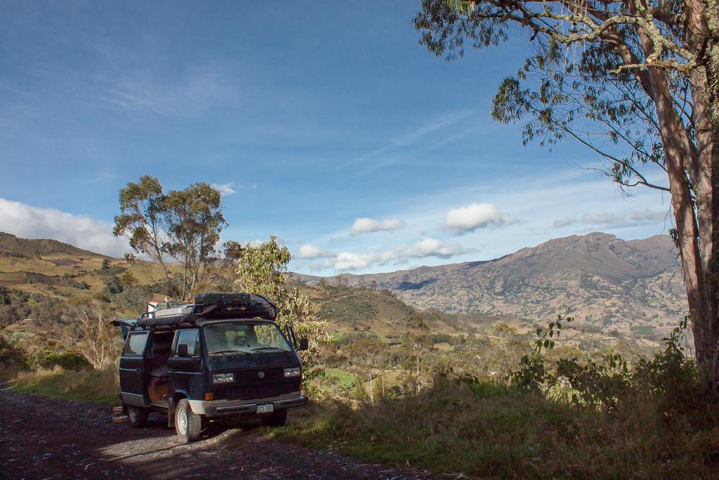 Our breakdown location, El Cocuy.