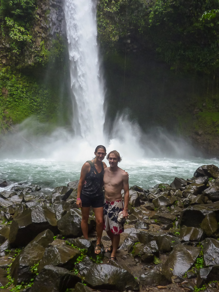 After a great cold swim near the base of the waterfall.