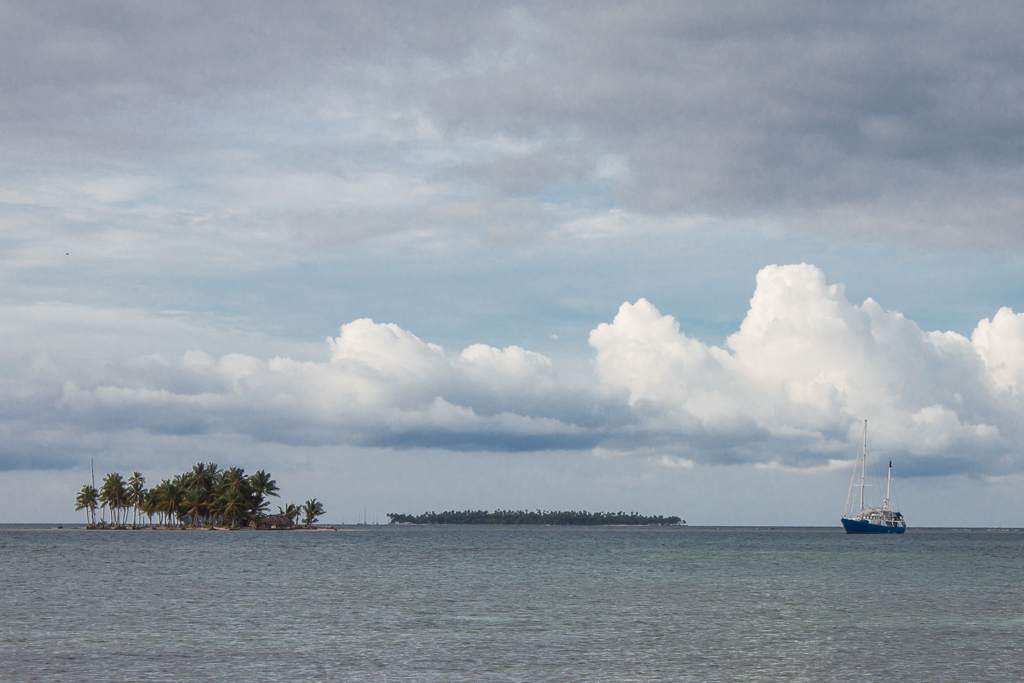 The Independence anchored in the San Blas Islands.