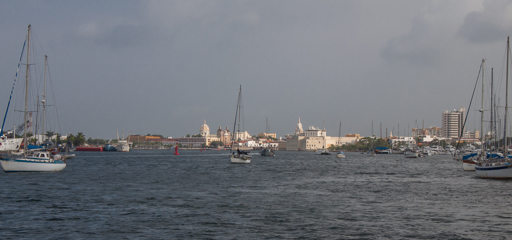 A view across the harbor to the old city.