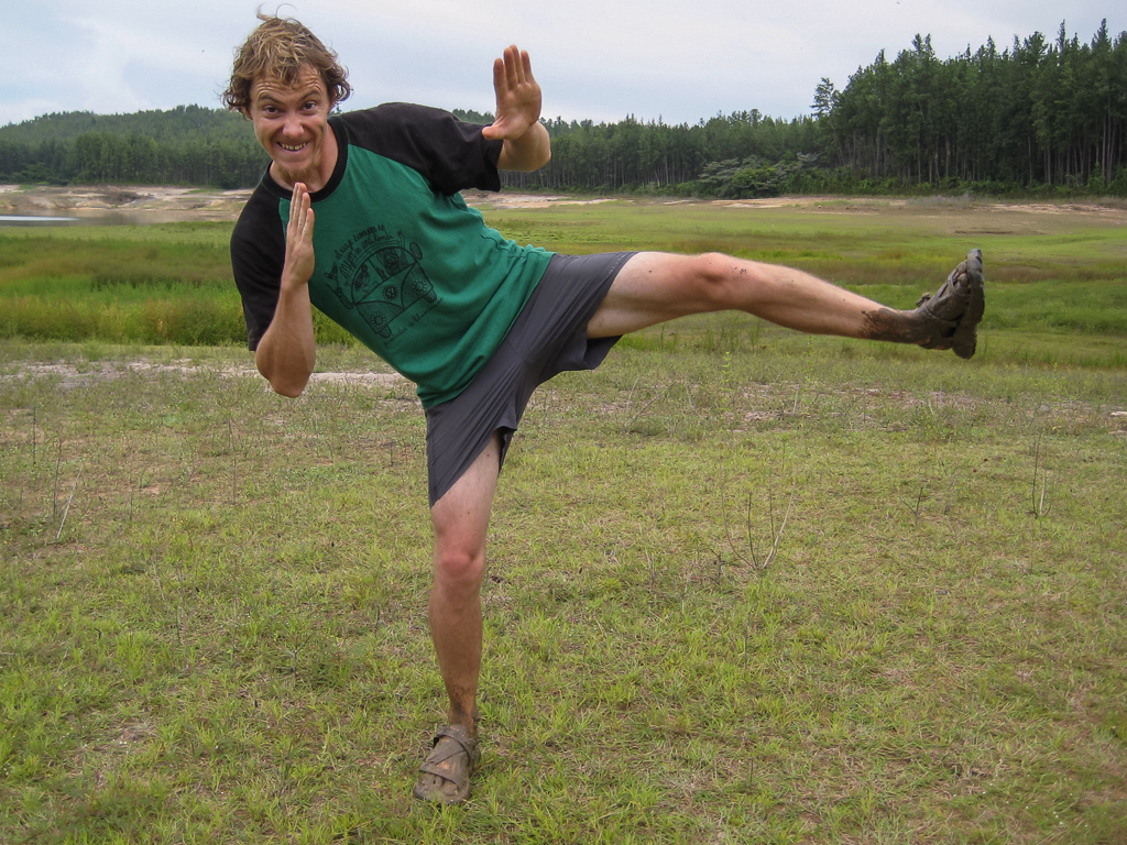 Mud karate.