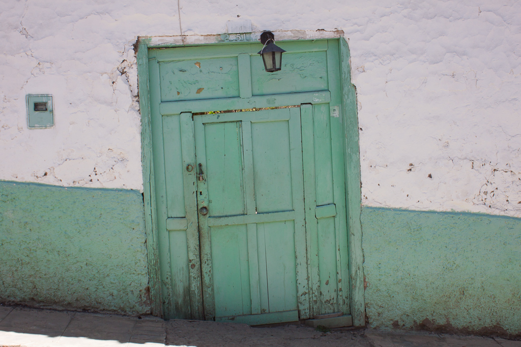 Most of the doorways in El Cocuy are crooked, they all seem to be sinking.