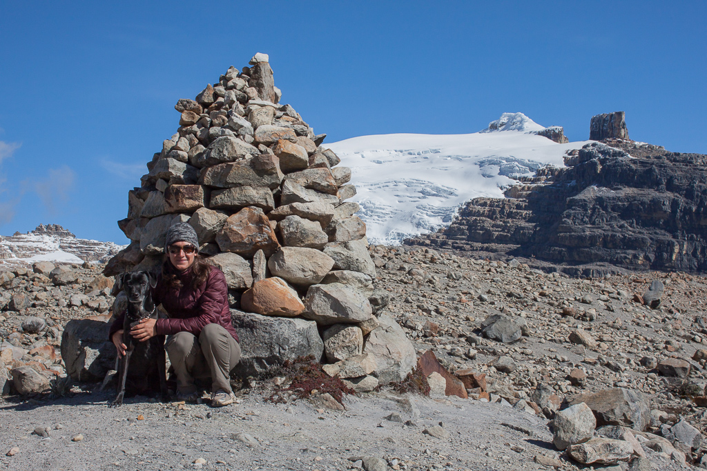 Emily and Hobie posing at the highest point on our hike, somewhere over 14,500ft.