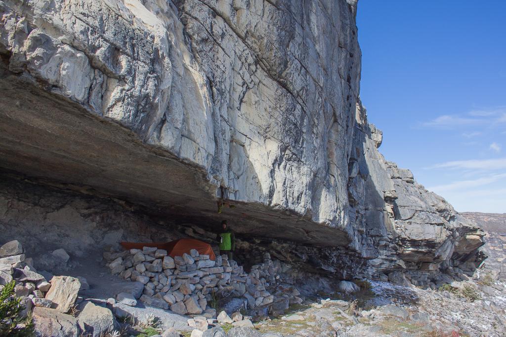 Camping in La Cueva Del Hombre.