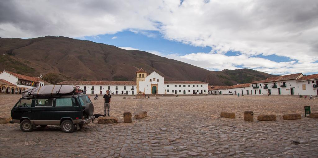 The oversized central plaza in Villa de Leyva.