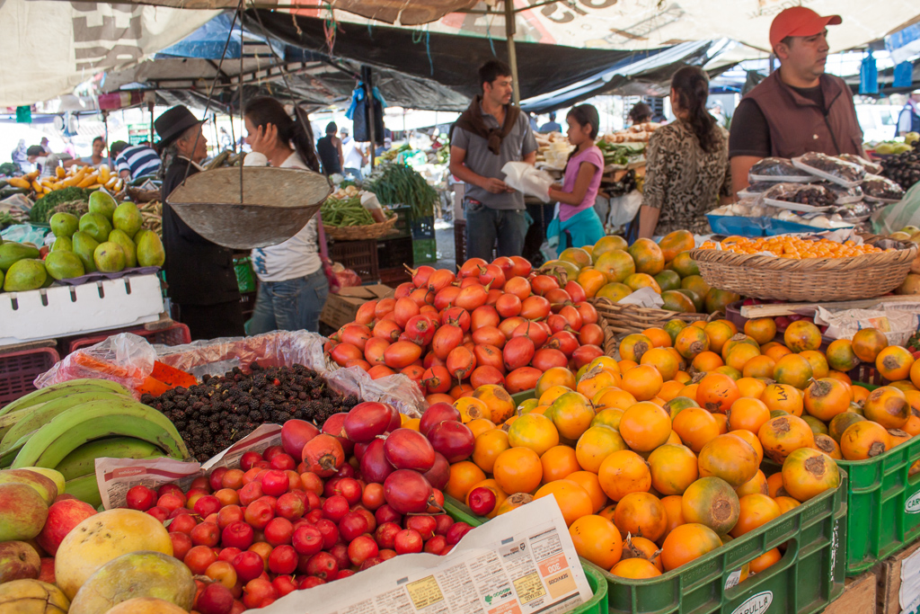 What makes a market so good? Mounds and mounds of fresh, quality, diverse, and cheap fruits and vegetables.