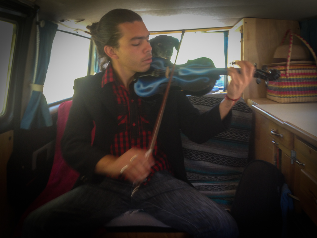 We picked up this hitchhiker when we left Salento and it turns out he's an accomplished violinist. We were blown away by his serenade as we navigated the steep winding road.