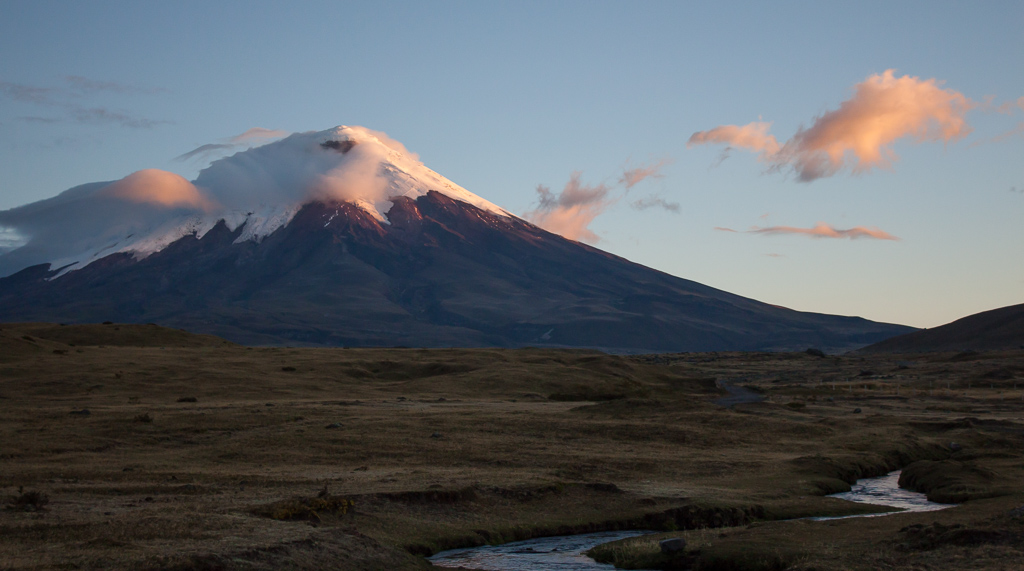 Sunset on Cotopaxi.