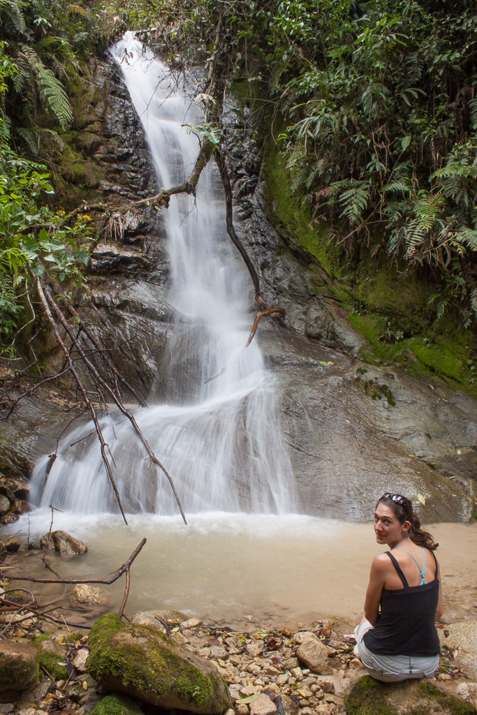 One of the many lovely little waterfalls along our jungle hike.
